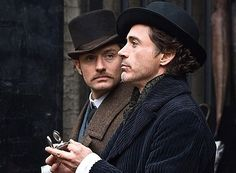 """Holmes and Watson on the case. (Robert Downey Jr., Jude Law, """"Sherlock Holmes"""")"""