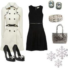 """""""Black, White and Silver Classic Winter Glitz"""" ... LOVE!"""