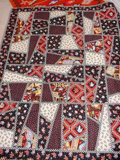 Mary Englbrite fabrics,crazy quilt ,
