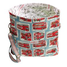 Just In; London Buses & Newsprint Folded Messenger Bag