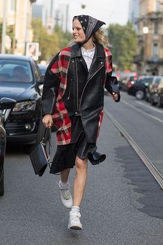 Street Style: Milan Fashion Week Spring 2014 - Hanne Gaby Odiele