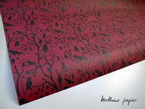 Geschenkpapier Vögel rot