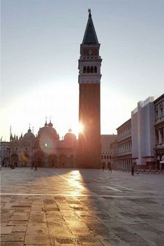 Early morning in St Mark's Square Venice. Peaceful and beautiful. Best time to visit.