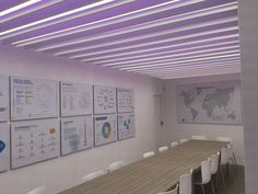 La luminaria Ice Line contribuye a crear un nuevo concepto desalas de reuniones  #iluminación #oficinas