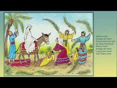 Kleine ezel draagt de Heer -  muzieknotatie staat op www.bijbelidee.nl