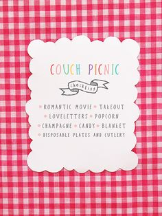 Picnic invitation for my hubby. :)