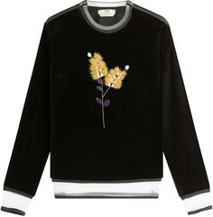 Fendi Velvet Sweatshirt with Fur