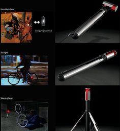 The Taillamp Tire Pump | Yanko Design