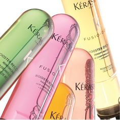 Kérastase created the art of personalisation. Fusio-dose has 4 Concentrés, 5 boosters, 20 combinations. Which will be yours?