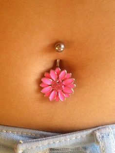 #belly #ring #navel #dangle #bellyring #button #piercing #pierced #wickedbodyjewelz #flower
