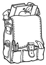 Back To School Coloring Pages 8 - Free Printable Coloring Pages… Sunday School Coloring Pages, Kindergarten Coloring Pages, Kindergarten Colors, Free Printable Coloring Pages, Coloring For Kids, Coloring Pages For Kids, Coloring Books, Back To School Videos, Back To School Backpacks