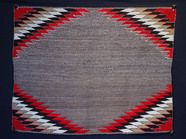 Navajo Red Mesa Saddle Blanket Navajo Rug, Single Saddle Red Mesa,1930  Handspun wool 31 x 37 inches  AAIA, Inc. deals in antique & contemporary Native American Indian art and artifacts. We Buy, Sell, Consign, Appraise, Restore & Research.#Antique #American #Indian #Art (949) 813-7202 mwindianart@gmail.com