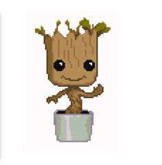 Baby Groot Cross Stitch Pattern by jennrbeeStitches on Etsy