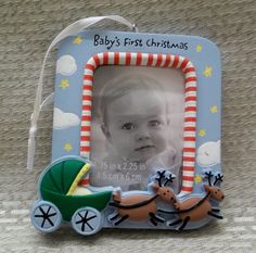 Hallmark 2011 Babys First Christmas Childs Age Photo Ornament No