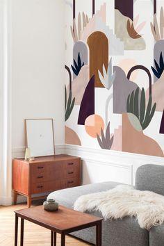 Ikea Wall, Style Deco, Home Wallpaper, Wall Murals, Wall Decor, House Design, Interior Design, Decoration, Home Decor