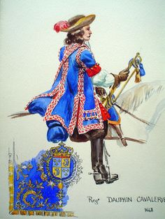 French; Dauphin's Cavalry Regiment, Trumpeter, 1668