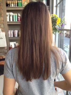 one length cut and straight blowdry – Haircut Types Medium Hair Styles, Curly Hair Styles, One Length Hair, Caramel Hair, Super Hair, Hair Highlights, Color Highlights, Look Fashion, Hair Lengths