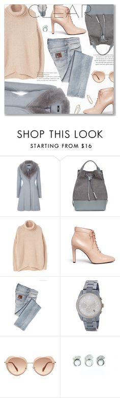 """""""Fur Collar Coat"""" by jiabao-krohn ❤ liked on Polyvore featuring Opening Ceremony, MANGO, ICE ICEBERG, DKNY, Miu Miu, Winter and rockthevote"""