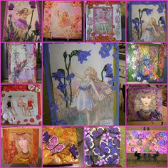 Transfers and clay on tiles by Poppins Mosaics and Crafts Tile Crafts, House Tiles, Decorative Tile, Summer Baby, Love Art, Mosaics, Polymer Clay, Tutorials, Pottery