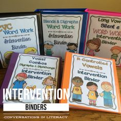 Phonics Intervention Binders for Guided Reading and RTI reading intervention…