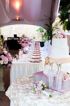 Gorgeous wedding reception decor Pink + Lime