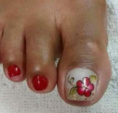 Toe Nail Art, Toe Nails, New Nail Art Design, Sexy Nails, Toe Nail Designs, Nail Tech, Hair Beauty, Pedicures, Floral