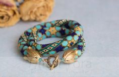 Beaded crochet necklace pattern Bonus Seed by HitoriToraWorkshop