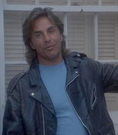 Don Johnson Miami Vice Black Leather Jacket - America Suits