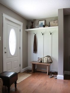 Board and batten entry - remove closet to create a more open feel.
