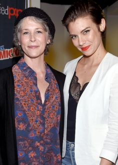 """dailytwdcast: """""""" Melissa McBride, Lauren Cohan and Sonequa Martin-Green attend AMC presents 'The Walking Dead' at New York Comic Con at The Theater at Madison Square Garden on October 8, 2016 in New..."""
