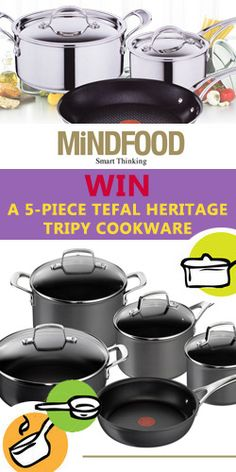 Win a 5-Piece Tefal Heritage Triply Cookware Set
