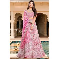 How Much Does A Manish Malhotra Lehenga Costs? Manish Malhotra Bridal, Manish Malhotra Lehenga, Lehenga Designs, Pink Lehenga, Bridal Lehenga, Indian Lehenga, Bridal Outfits, Bridal Dresses, Wedding Gowns