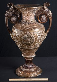 Decorative Urns Vases A Lovely Grouping Of Brass Decorative Pieces Including A Small Urn