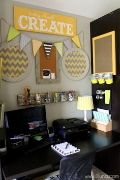 Craft Room Orgnization Ideas @kristynm #MichaelsMakers