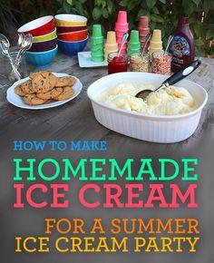 Easy Homemade Ice Cream Recipes and Summer Ice Cream Party Idea  #choosesmart #cbias #shop