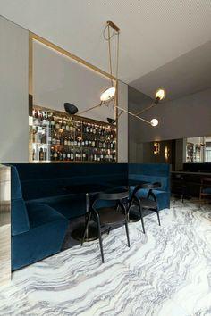 Milan Best restaurants - Ta Milano designed by Vincenzo de Cotiis Bar Interior, Restaurant Interior Design, Modern Interior Design, Interior Architecture, Interior Decorating, Modern Decor, Restaurant Interiors, Modern Interiors, Room Interior