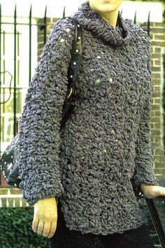 tejidos artesanales en crochet: suetter pull urbano tejido en crochet