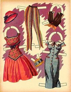 Jane Russell paper doll clothes / eBay