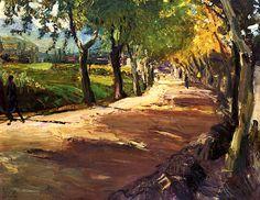 bofransson:  Street in Godramstein Max Slevogt - 1909
