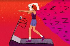 Sleep and exercise are both vital. But if you can't seem to fit in both, which should you skip? (Illustration: Peter Oumanski for TIME)