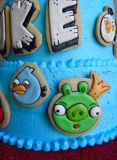 Oh Sugar Events: Angry Bird Cake Cookies