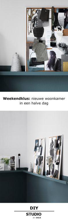 STUDIO by IKEA - Weekendklus: een nieuwe look in een halve dag | STUDIObyIKEA IKEA IKEAnl IKEAnederland DIY woonkamers slaapkamers blauw vakantie weekend klussen lambrisering metamorfose