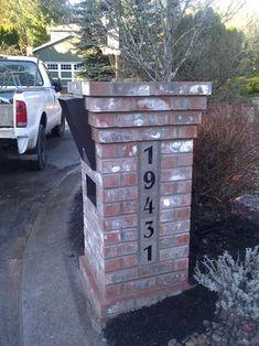 Lake Oswego Brick mailbox - traditional - landscape - portland - Go brick and stone masonry