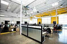 Workspace Inspiration-corregated metal dividers