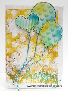 Layers of ink - Gelli Printed Cards