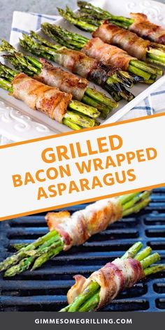 Bacon Wrapped Asparagus is the perfect side dish on the grill! Tender crisps of ., Wrapped Asparagus is the perfect side dish on the grill! Tender crisps of bacon wrapped around tender asparagus. It's a quick and easy grilled s. Grilled Bacon Wrapped Asparagus, Grilled Veggies, Asparagus On The Grill, Grilled Asparagus Recipes, Grilled Recipes, Grilled Food, Recipe For Asparagus, Vegetables On The Grill, Meat Recipes