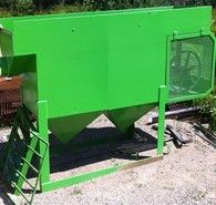 New Duplex Mineral Jig. 24 in. x 24 in. Single or Three Phase Available. Feed Distribution Box.