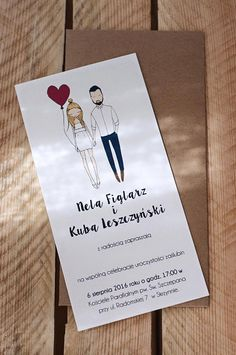 Custom illustrated couple Quirky wedding by Blankaillustration Quirky Wedding Invitations, Illustrated Wedding Invitations, Diy Invitations, Wedding Invitation Design, Wedding Stationery, Wedding Paper, Wedding Cards, Thé Illustration, Portrait Illustration