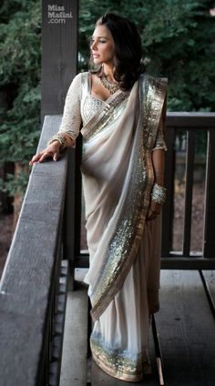 Lisa Ray wedding sari