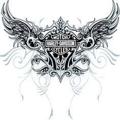Harley-Davidson Stencil Patterns | Harley Design wings 02 by ~MalachiDesigns on deviantART